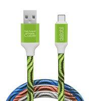 Dátový kábel - USB Type-C 4 farby - 1 m