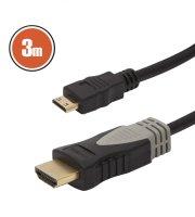 Mini HDMI kábel • 3 m pozlátený