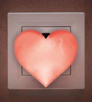 Červené LED svetlo Srdce - 230 V