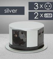 Predlžovačka skrytá - 3-itá + USB