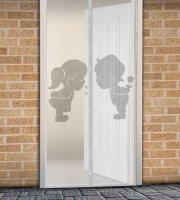 Záves na dvere proti hmyzu Chlapec + Dievča