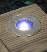 Zapustená odolná LED solárna lampa kruh