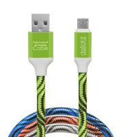 Dátový kábel - microUSB  4 farby - 2 m