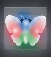 Farebné LED svetlo Motýľ - 230 V