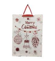 Vianočná darčeková taška veľká, 42 × 30 cm 6 ks