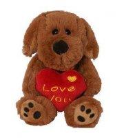 LOVE YOU - psík so srdiečkom