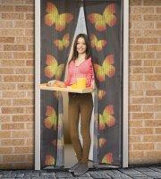 Záves na dvere proti hmyzu s motýľmi