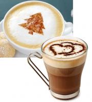 Sada ozdobných šablón Cappuccino