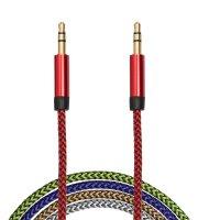 AUX dátový kábel - 3,5 mm jack , 4 farby - 1 m