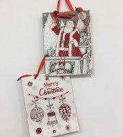 Vianočná darčeková taška malá, 18 × 8 cm 6 ks