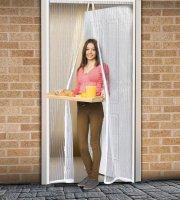 Záves na dvere proti hmyzu 100 x 210 cm - biely