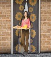 Záves na dvere proti hmyzu so slnečnicami