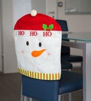 Ozdoba na stoličku - Snehuliak  50 x 60 cm