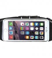 Vodotesné čierne puzdro na mobil - opasok