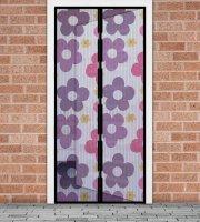 Sieťka proti hmyzu na dvere   farebné kvety