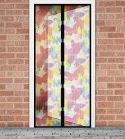 Sieťka proti hmyzu na dvere - magnetická- 100 x 210 cm - farebné motýle