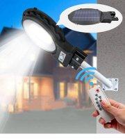 Solárne LED pouličné svetlo s detektorom pohybu a diaľkovým ovládaním