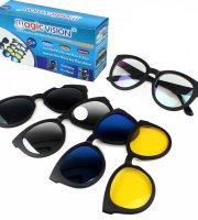 Magic Vision - magnetické okuliare 5 v 1
