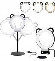 Panda kruhová LED lampa so stmievačom - v rôznych farbách