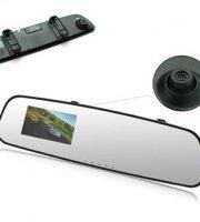 Spätné zrkadlo s DVR kamerou a monitorom