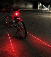 Svetlo na bicykel, laserové zadné svetlo