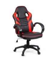 Gamer stolička s lakťovou opierkou - červená - 71 x 53 cm / 53 x 52 cm
