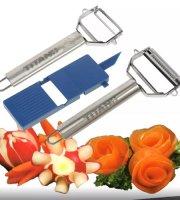 TITAN - 2-dielna súprava na lúpanie zeleniny a ovocia