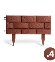 Okraj záhonu / plôtik  tehlový dizajn - 45 x 29,5 cm - 4 ks / balenie