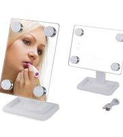 Zrkadlo na líčenie 4 LED