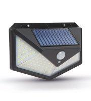 Solárny reflektor s pohybovým senzorom - nástenný - 136 LED
