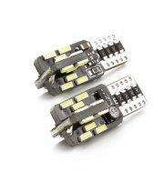 LED žiarovka - CAN128 - T10 (W5W) - 240 lm - can-bus - SMD 3W - 2 ks / balenie