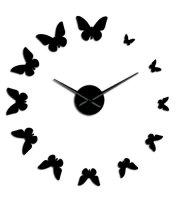 Moderné nástenné hodiny motýľ
