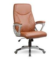 Prémiová kancelárska stolička - hnedá