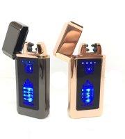 Nabíjateľný elektrický zapaľovač USB s erbom Maďarska, v darčekovom balení