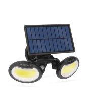 Solárny reflektor s pohybovým senzorom - otáčateľná hlava - 2 COB LED