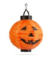Halloweensky solárny lampión - tekvica - ⌀20 cm