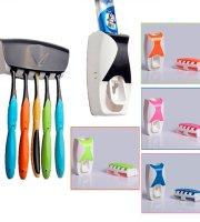Automatický dávkovač zubnej pasty s držiakom na 5 zubných kefiek